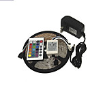 KWB 3528 LED RGB Strip Light 300leds 24key IR Remote Control Power Supply Perfect for all kinds of decoration styles