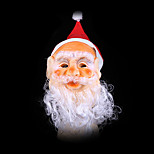 Santa Claus Mask Christmas Decorations Prosthetics With Santa'S Missing Hat