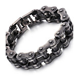 2016 Kalen New 316L Stainless Steel Brushed Bike Chain Bracelet Cool Oxidized Black Bicycle Chain Men's Bracelet Gifts