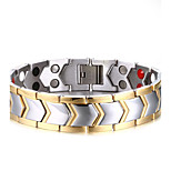 Men's ID Bracelets Jewelry Halloween/Party/Birthday/Daily/Casual Fashion Titanium/IP Gold Plating /White 1pc   Christmas Gifts