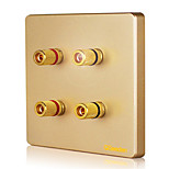 Chisen 86 Champagne Gold Sound Wall Socket Panel Q3 Series Network Socket
