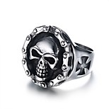 Men's  Fashion Personality  Cool  Ghost Stainless Steel High Polished Band Rings(1Pc)