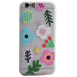 Paper-Cut Flowers Pattern Simple Matte Material TPU Phone Case For iPhone 6s 6 Plus SE 5s 5