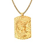 Gold Skull The King 18K Gold Necklace Men