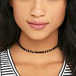 Women Fashion Simple Bohemian Handmade Beads Necklace Choker Necklace 1pc