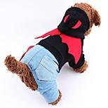 Gatos / Perros Disfraces / Abrigos / Saco y Capucha / Mono / Pantalones Rojo / Negro Ropa para Perro Invierno / Primavera/OtoñoVaqueros /