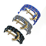 Beadia 1Pc Antique Brass Anchor Retro Multilayer Risers Bracelet