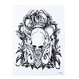 1pc Sexy Body Arm Back Art Temporary Tattoo Sticker Women Men King Skull Crown Picture Design Tattoo HB-338