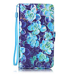 Begonia flower Pattern PU Leather Lanyard phone Case For LG K7 LG LS775 STYLUS2
