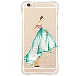 Per retro Resistente agli urti / Trasparente / A fantasia sexy Lady TPU Morbido Copertura di caso per AppleiPhone 6s Plus/6 Plus / iPhone
