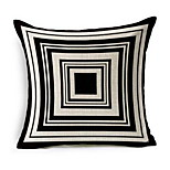 Geometric Black And White Shading Linen Pillow Sofa Cushion Office Nap Pillow Pashui Cushion Covers 180G