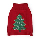 Christmas Tree Snowman Pattern Sweater Pets Christmas Clothes for Pets Puppy Dogs (Assorted Sizes and Colours)