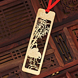Alloy Stationery Classical Chinese Style (Merlin Bamboo And Chrysanthemum) Carved Metal Tabs Bookmark
