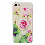 Flower Pattern Material TPU Phone Case For iPhone 7 7 Plus 6s 6 Plus SE 5s 5