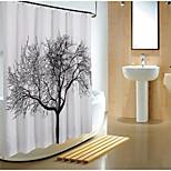 Contemporânea Poliéster 1.8*1.8M - Alta qualidade Cortinas de Banheiro