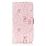PU Leather Material Bear Pattern Painting Pattern  Phone Cases for iPhone 7 Plus/7/6s Plus / 6 Plus/6S/6/SE / 5s/5
