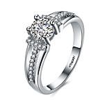 2016 Luxury Wedding 18KGP Platinum Zircon Engagement Ring For Women