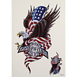 1pc Cowboy Style Waterproof Tattoo Harle Eagles Big Temporary Tattoo Sticker 14.3*26cm