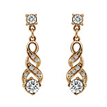 EarringDrop EarringsJewelry 1 pair Bohemia Style Zircon / Gold Plated Geometric Gold Party / Daily / Casual