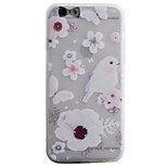 Birds Love Flowers Pattern Simple Matte Material TPU Phone Case For iPhone 6s 6 Plus SE 5s 5