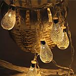 28-ledda 5m smidesjärn urholka ljus vattentät plugg utomhus jul semester dekoration ljus ledde sträng ljus