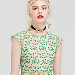 YIGELILA Necklace Choker Necklaces Jewelry Daily Fashion Alloy / Lace Green 1pc Gift-X022