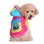Katzen / Hunde Kostüme / Mäntel / Kapuzenshirts Blau / Rose Hundekleidung Winter / Frühling/Herbst Buchstabe & Nummer / EinfarbigCosplay
