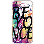 Para Funda iPhone 6 / Funda iPhone 6 Plus / Funda iPhone 5 Diseños Funda Cubierta Trasera Funda Palabra / Frase Dura Policarbonato Apple