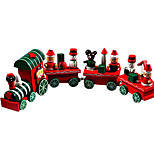 1PC  Hot New Lovely Charming 4 Piece little train Wood Christmas Train Ornament Decoration Decor Gift