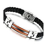 Men's Fashion Jewelry Titanium Steel Vintage Leather Bracelet Casual/Daily Gift Accessories
