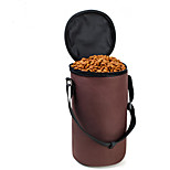 Cat / Dog Bowls & Water Bottles Pet Bowls & Feeding Waterproof / Portable Red / Black / Brown / Gray Oxford Fabric