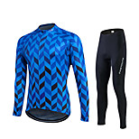 Spring Autumn Long Sleeve Bike Shirt Blue Cycling Jersey Breathable Bicycle Sets Sportswear Clothes Ropa Ciclismo