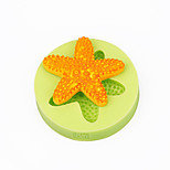 Starfish Shells CupCake Decoration Silicone Fondant Mold Sugarcraft Tools Polymer Clay Chocolate Candy Soap Making