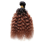1PC TRES JOLIE Deep Wave 10-18Inch Color #T1B/30 Ombre Black Auburn Human Hair Weaves