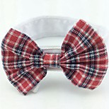 Cat / Dog Tie/Bow Tie Red / Black / Rose / Black-White Dog Clothes Summer / Spring/Fall Bowknot Cute / Birthday / Wedding / Christmas