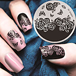 Rose Pattern Manicure Stamp Stamp