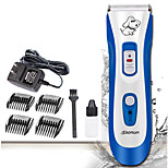 Cat Dog Grooming Clipper & Trimmer Pet Grooming Supplies Waterproof Low Noise Electric Blue