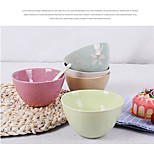 4.5 Inch Ceramic Creative Fashion Tableware Rice Bowls Bowl Dessert Bowl Suit