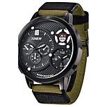 Luxury Brand canvas Casual Analog Display Date Men's Quartz Watch  Clock Sport Military Army Watch Men Watch