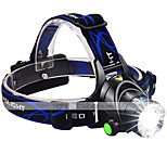High Power CREE XM-L2 LED Headlight 3000 Lumens Ultra Bright Zoomable Helmet Light Hands-free Flashlight 2x18650/USB