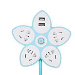 Creative Desktop Smart Socket With Usb Switch Insert Row Of Fruit Lemon Second-Generation Plug