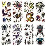 8 Designs Waterproof Temporary Tattoos Sticker Animal Pattern for  Body Art Beauty Makeup 24cm*9.5cm (Assorted Pattern)