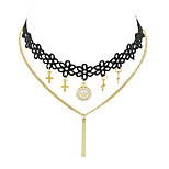 Necklace Choker Necklaces Jewelry Party / Daily / Casual Fashion / Bohemia Style / Personality Lace / Nylon Black 1pc Gift