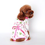 Cute Cotton Bears Printing Lounwear with Pants Pajamas for Pets Dogs (Assorted Sizes and Colours)