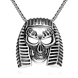 Fashion jewelry pendant necklaces Maya Punk Stainless Steel necklace for men Egyptian pharaoh skulls necklace GMYN022