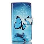 Full Body Card Holder / Wallet / Flip / Pattern Butterfly PU Leather Hard Case Cover For Lenovo Lenovo A6000