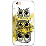 Para Funda iPhone 6 / Funda iPhone 6 Plus / Funda iPhone 5 Diseños Funda Cubierta Trasera Funda Búho Dura Policarbonato AppleiPhone 6s