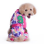 Dog Clothes/Jumpsuit Dog Clothes Winter Spring/Fall Camouflage Fashion Sports Green Pink