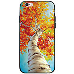 Para Funda iPhone 6 / Funda iPhone 6 Plus / Funda iPhone 5 Transparente / Diseños Funda Cubierta Trasera Funda Árbol Suave TPU Apple