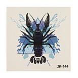 1pc Colorful Waterproof Tattoo Telescope Scorpion Small Temporary Tattoo Sticker 6*6cm